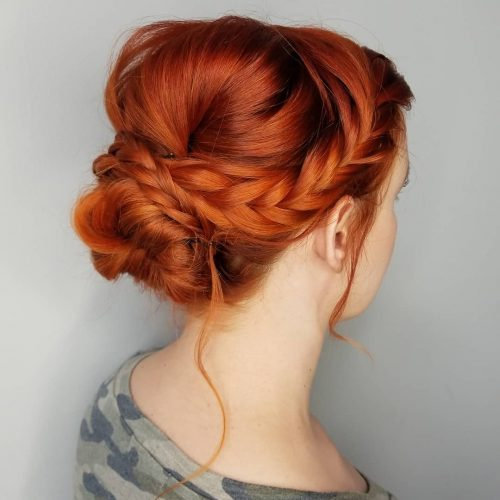 Picture of braid bump hair for prom