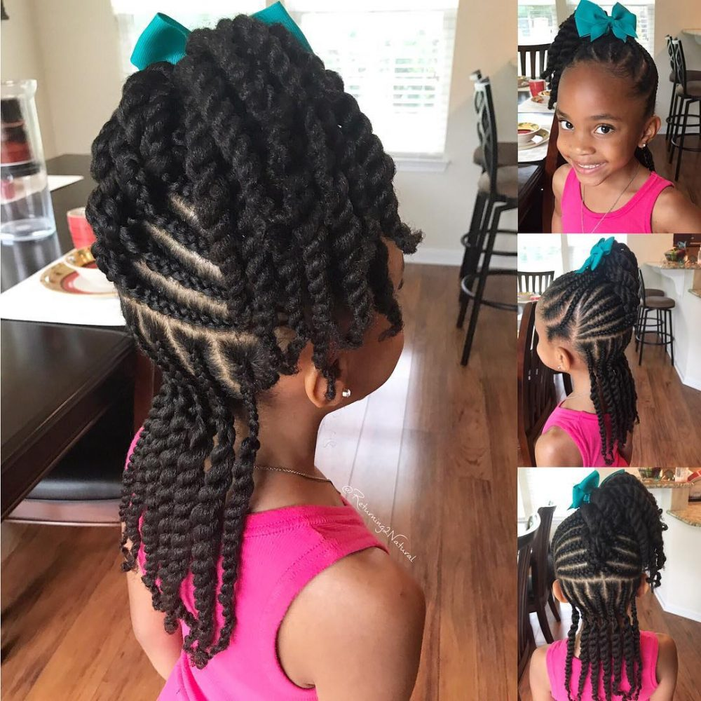 Braid and Twist hairstyle