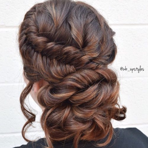 Picture of a braided boho for prom