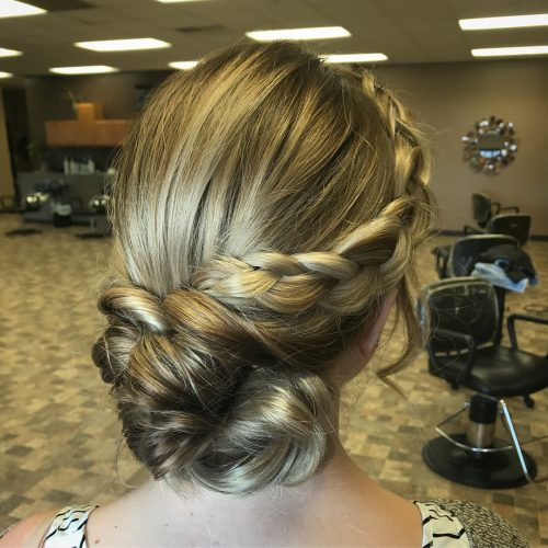 Picture of a braided princess hairstyle