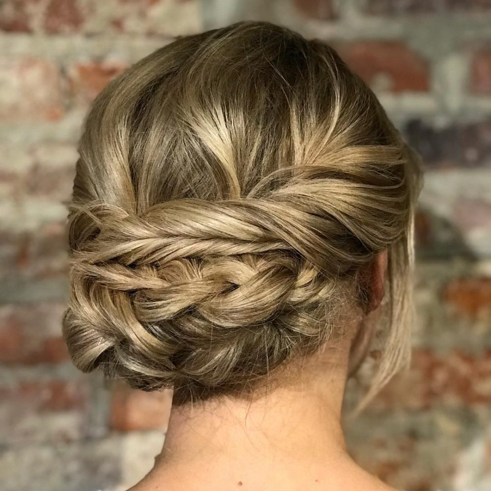 Braided Textured Updo hairstyle