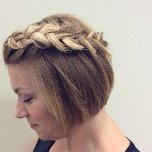 Braided & Textured hairstyle