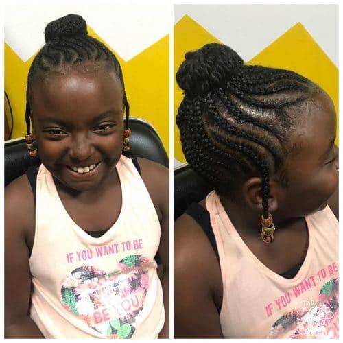 Braids & Twisted Bun hairstyle
