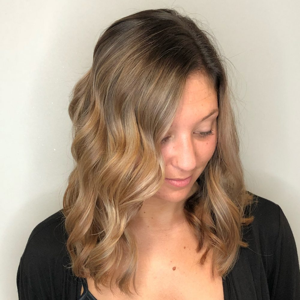 Bronde Lob hairstyle