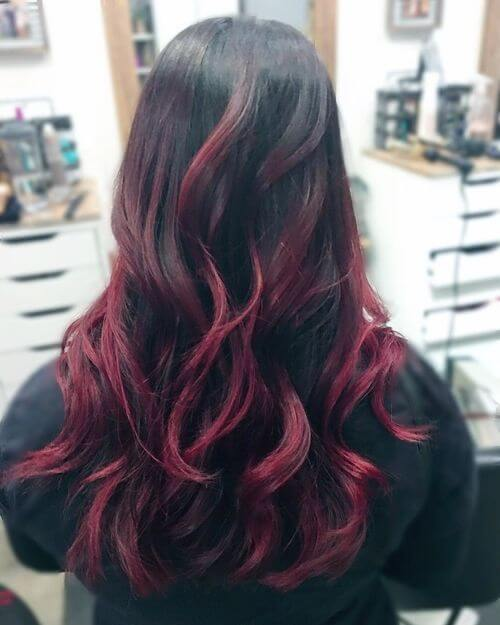 burgundy color melt