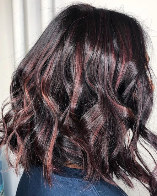 Black Hair With Highlights Trending