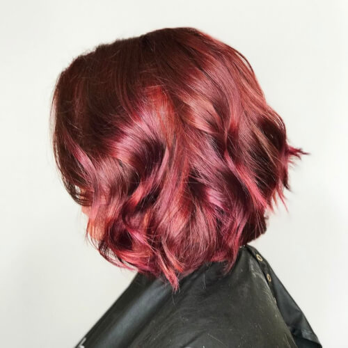 Short Red Hair Color Idea