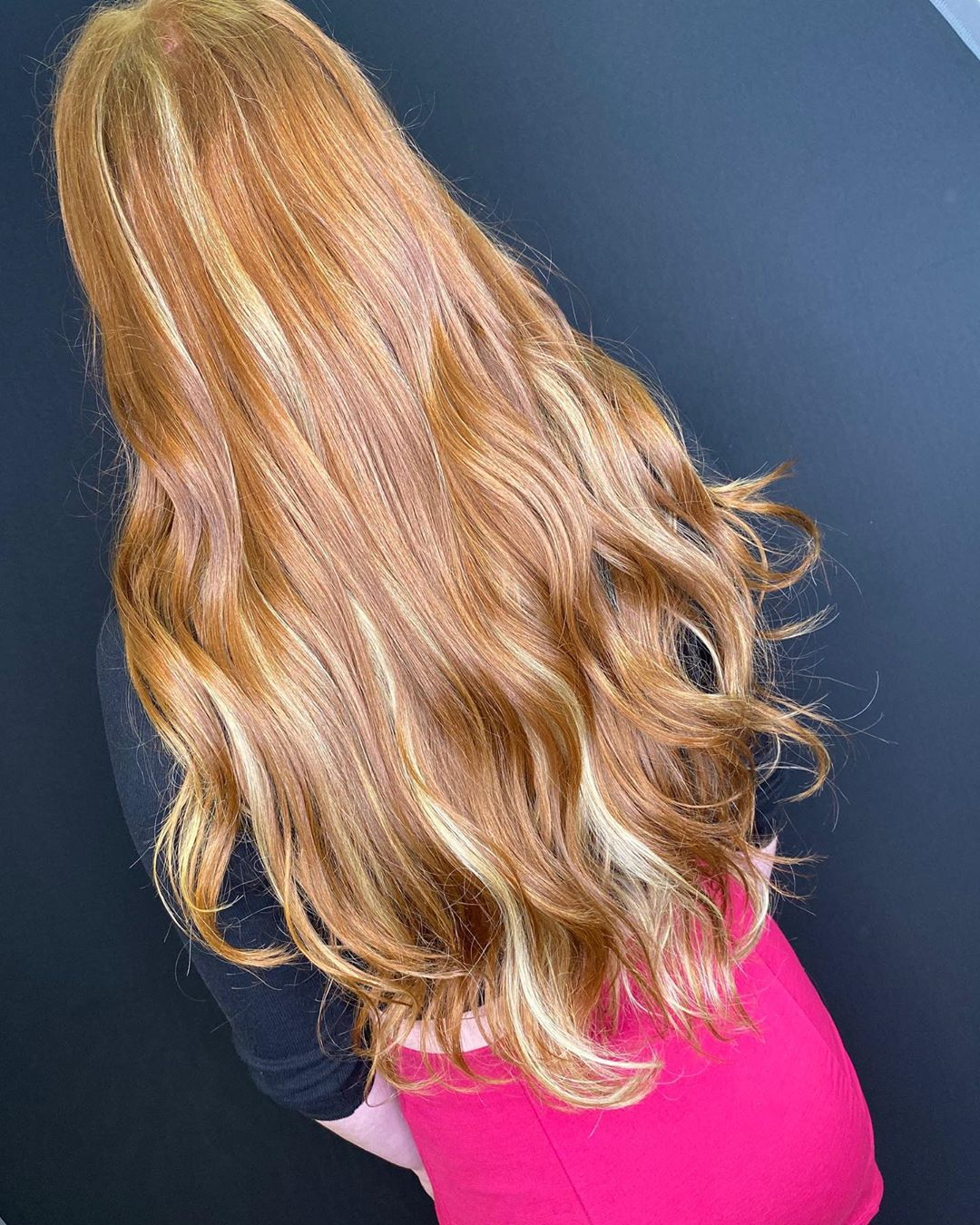 Caramel Brown with Rich Blonde Highlights