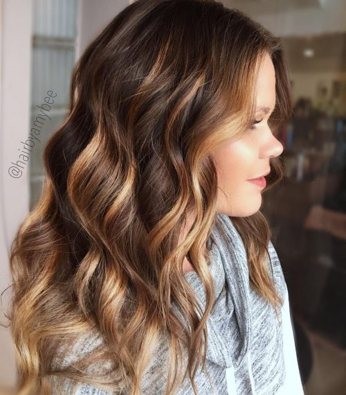 Caramel Highlights Light Brown Hair
