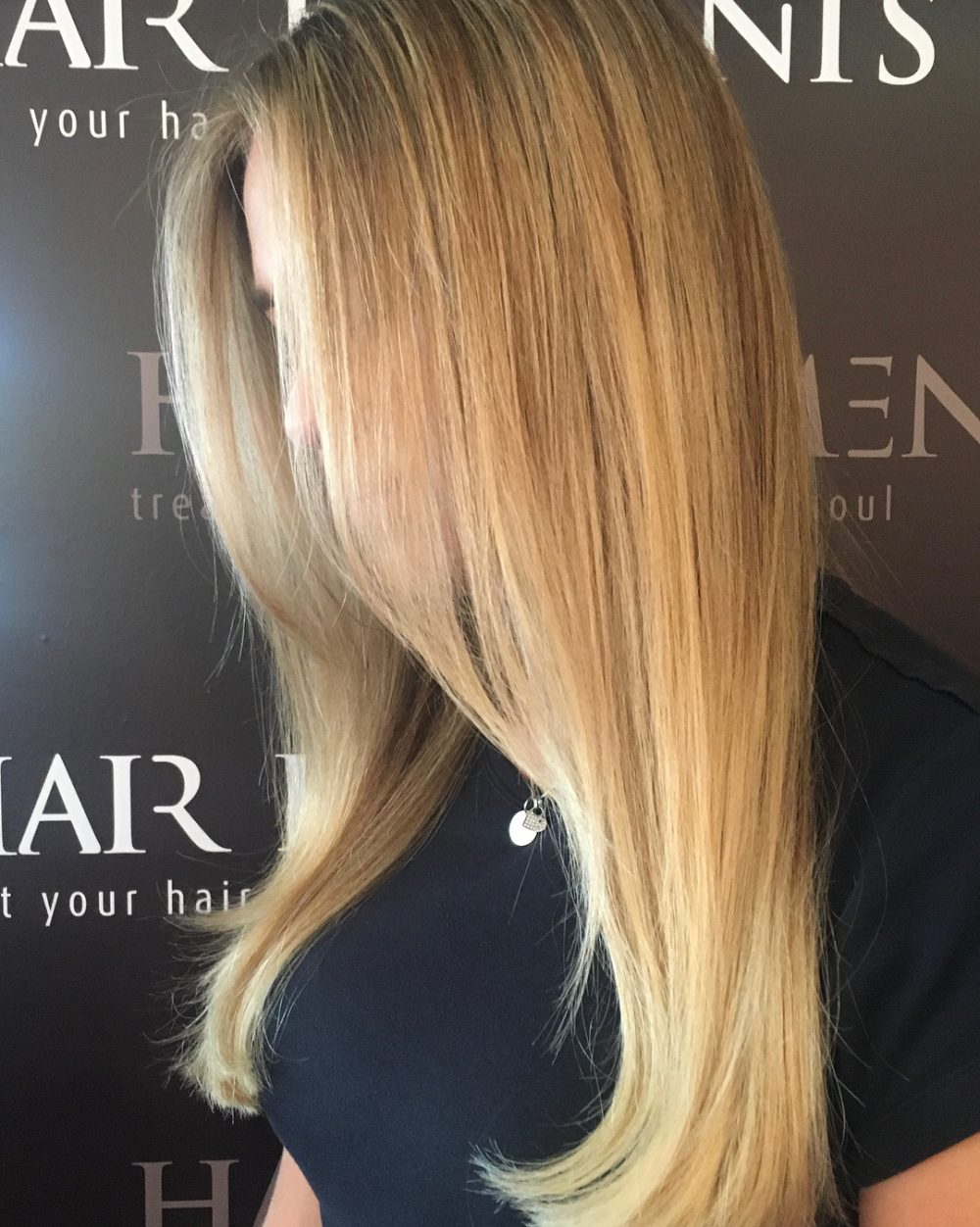 two Honey tone hair color blonde