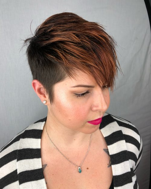 Picture of a pixie with caramel highlights