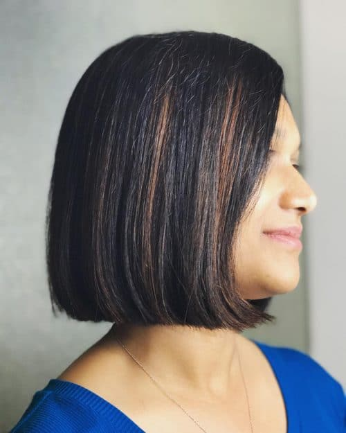 Short Bob with Highlights. Short bob with dark hight and highlights