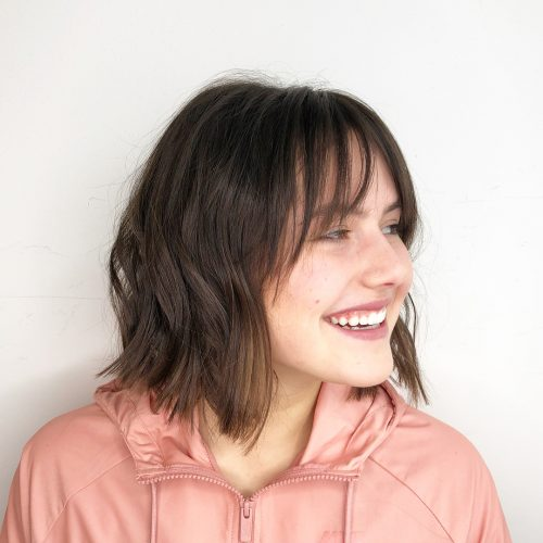 Picture of carefree short hairstyle for long faces