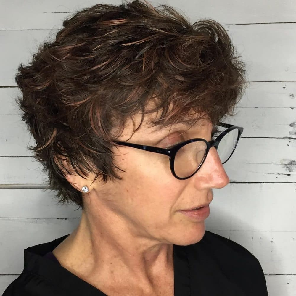 A Carefree Pixie Cut For Older Women With Gles