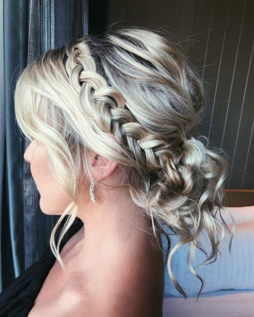 Picture of a casual elegance wedding updo