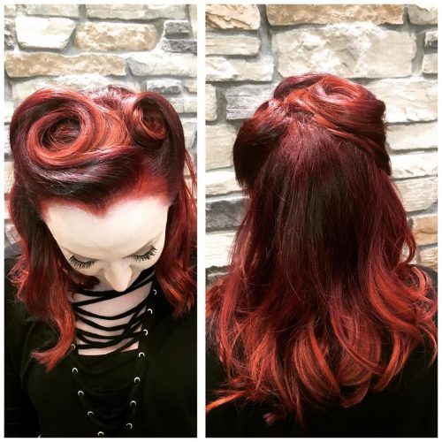 Casual Vintage Style hairstyle