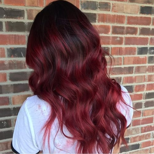 Cherry red highlights