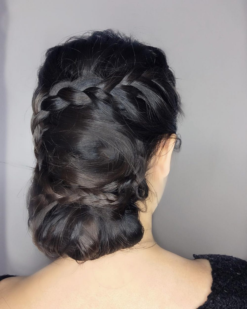 Chic Braided Chignon hairstyle
