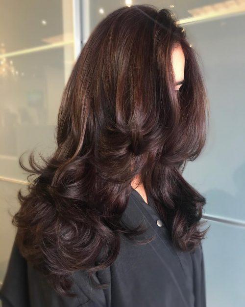 Chocolate auburn hair