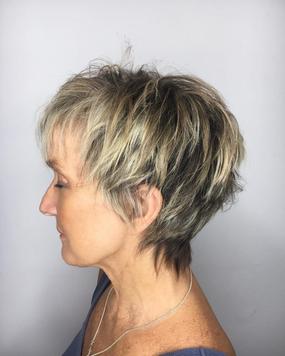 Choppy and Texturized Short Cut hairstyle
