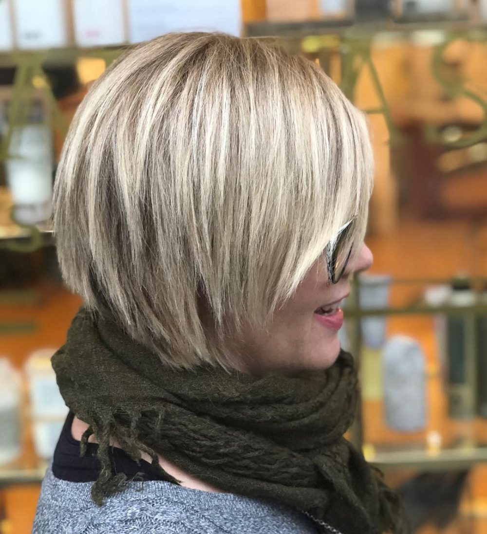 Choppy Bob with Blunt Layers hairstyle