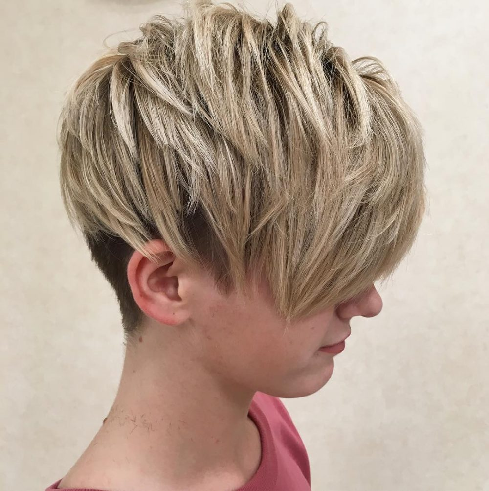 Choppy Undercut Pixie hairstyle