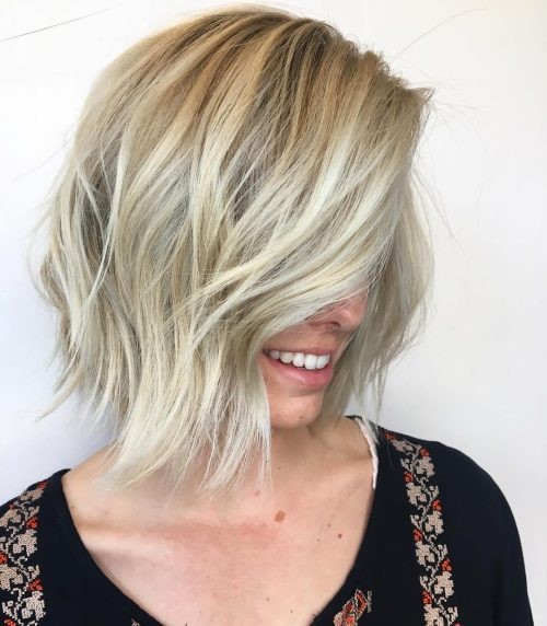 Choppy Layered Bob hairstyle