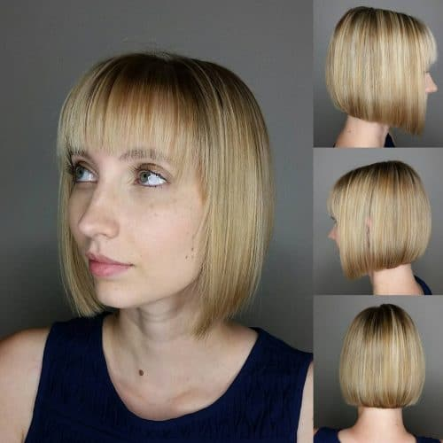 Classic Bob with Modern Shattered Twist hairstyle