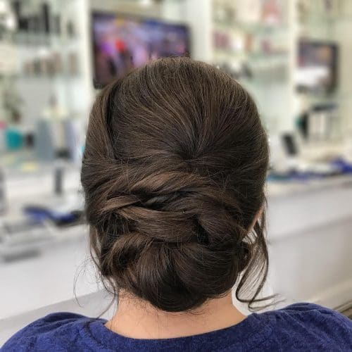 25 most beautiful updos for medium length hair new for 2017 classic formal updo hairstyle pmusecretfo Choice Image