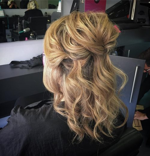 Picture of a classy casual a fancy hairstyle