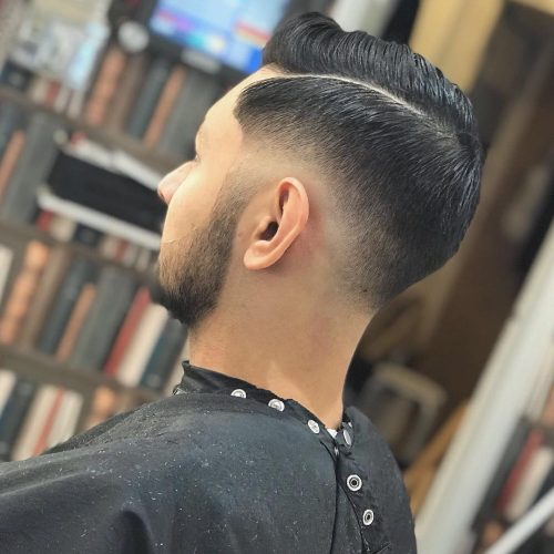 Picture of a clean taper fade