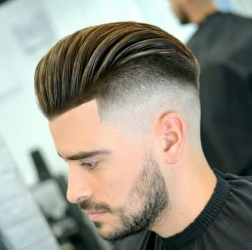 Image result for Heavy top clean low fade comb over: