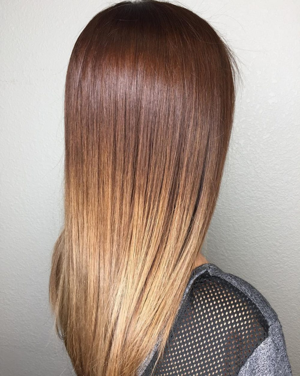 Long & Straight Chocolate Brown Color Melt