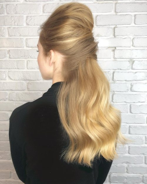 Combination of French and Italian twist evening hairstyle