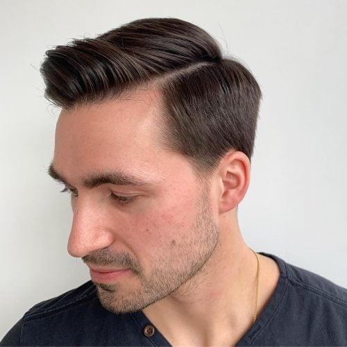 Combover para cabello medio