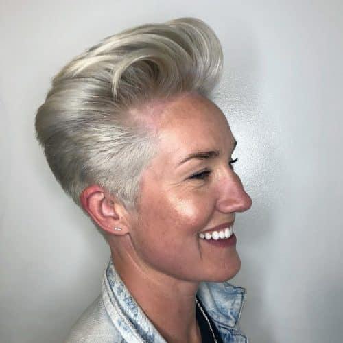 Women's Pompadour Haircut for Thick Hair