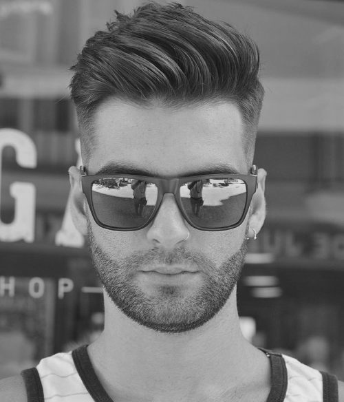 Cool guy with a pompadour haircut