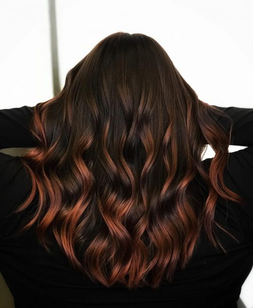 Copper Red Ombre Hair