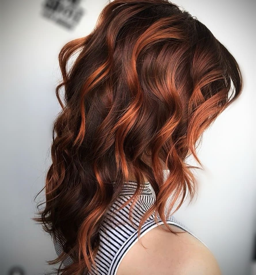 15 Best Red Highlights in 15 for Brown, Blonde & Black Hair