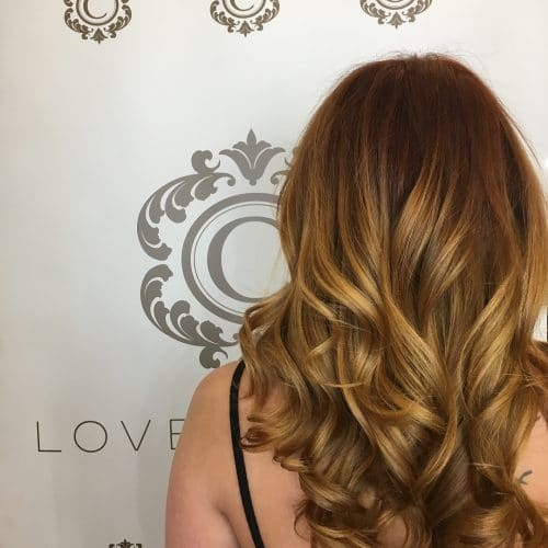 Copper Balayage hairstyle
