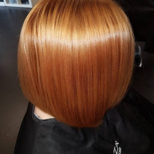 Bob with copper hair color