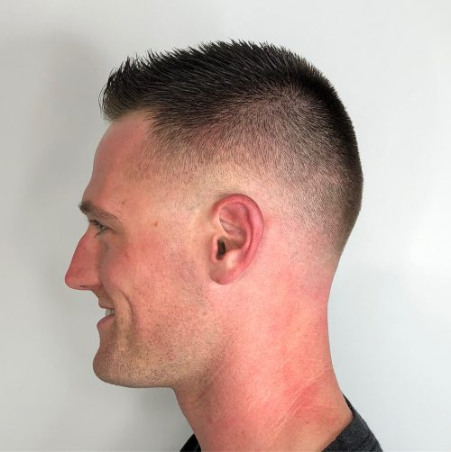Crew cut with taper fade