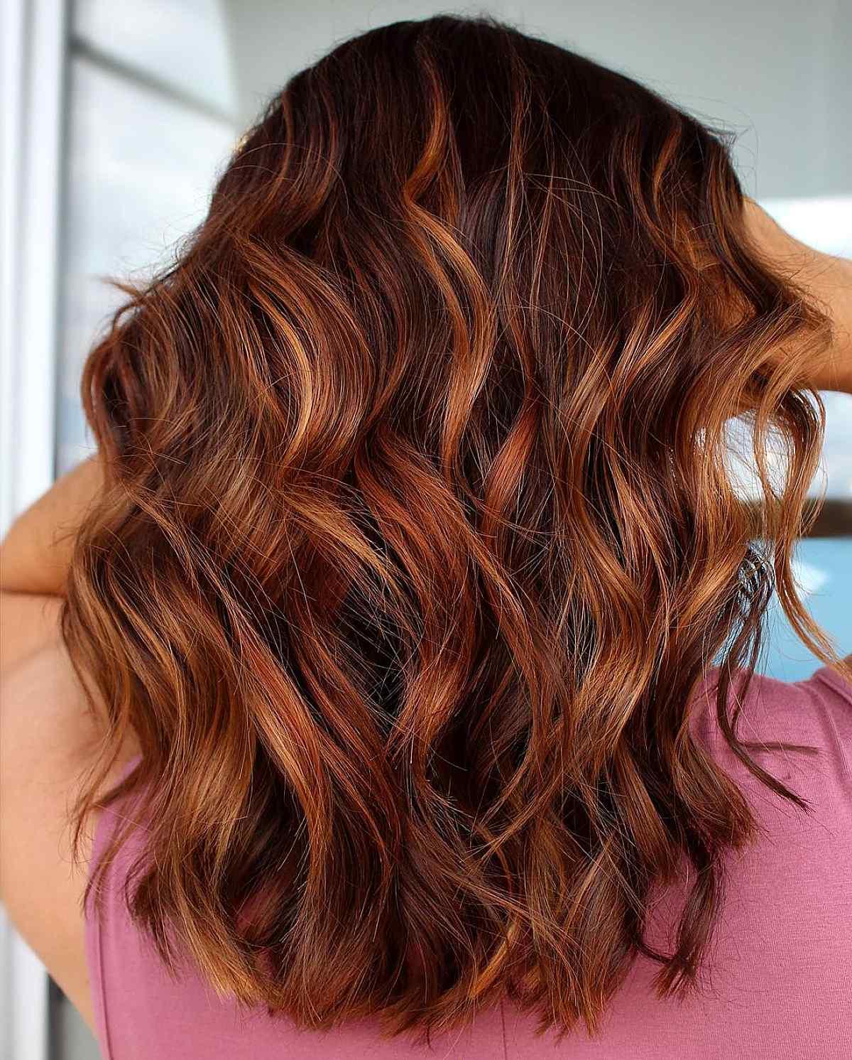 Crisp apple cider fall hair color