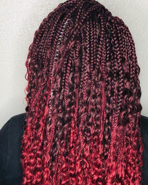 Crochet Burgundy box braids
