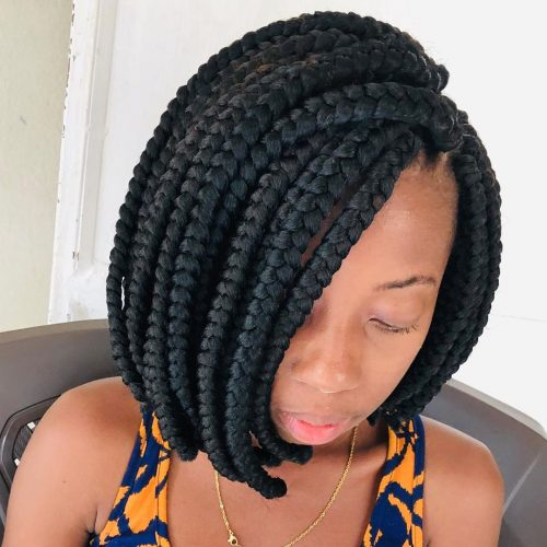 Shoulder-Length Crochet Braids