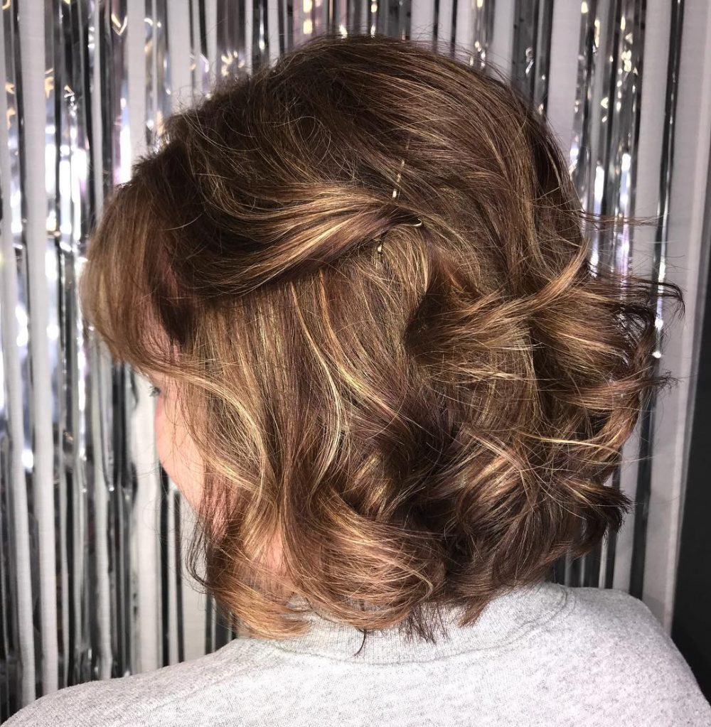 Hair style for short hair wedding