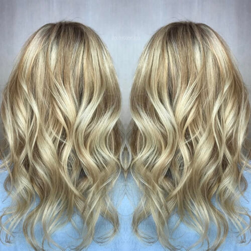 Opalescent hairstyle