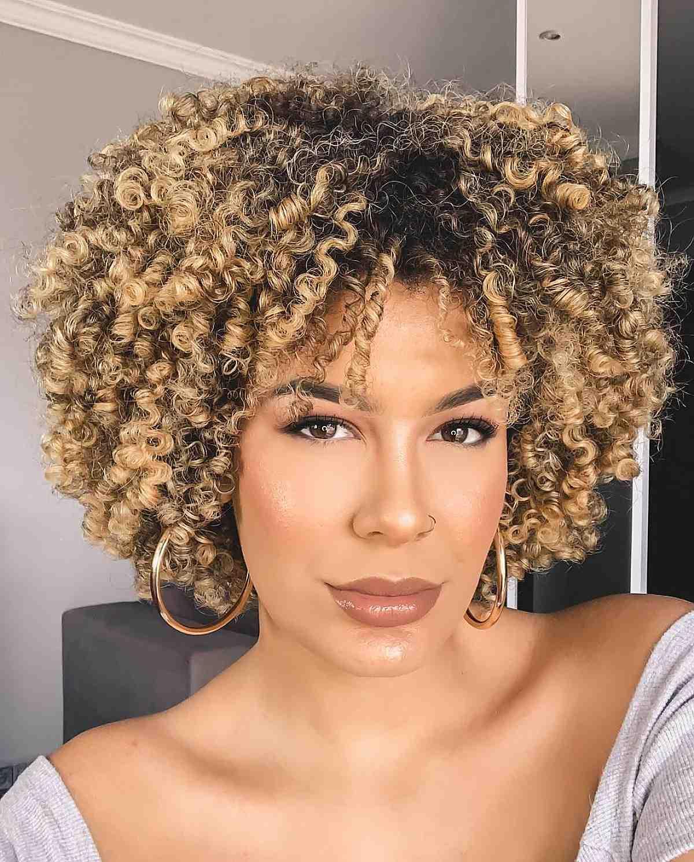 curly bob for natural hair