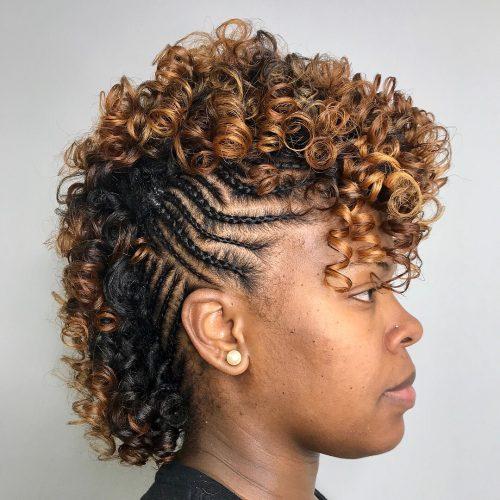Curly copper hair for dark skin