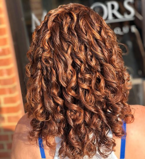 Light Brown Hair Color Curly